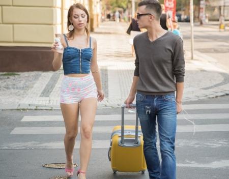 Пикап девушки от опытного туриста который приехал в Россию на несколько дней